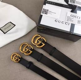 GUCCIЛучший 3.5CM пряжка Марка пояса моды Роскошная натуральная кожа G Damier мужские ремни для мужчин женщин от Поставщики g ремень для женщин