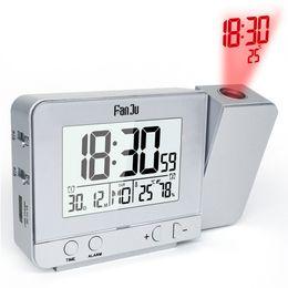Temperatura da umidade do relógio on-line-Projeção Alarm Clock com Temperatura e Tempo de Projeção / Carregador USB / Indoor Temperatura e Umidade Desk Clock