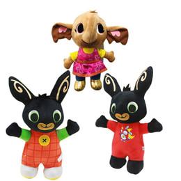 2019 vestidos de novia de felpa rosa 25 cm 3 estilo Bing Bunny juguetes de peluche muñeca Bing Bunny animales de peluche Conejo suave Bing's Friends Toy para niños regalo de Navidad L104