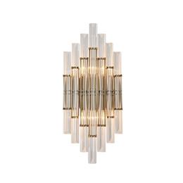 2019 luzes de passo modernas lâmpada de parede parede de cristal de ouro luz moderno para sala de estar quarto sconce brilho cristal Luzes LED