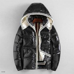 Sudaderas gruesas de invierno online-Ropa de lujo para hombre del diseñador la chaqueta con capucha del invierno del otoño abajo cubre la chaqueta rompevientos Marca bolsillo con cremallera al aire libre densamente chaquetas de los hombres