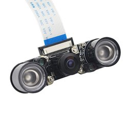 Infrared Night 5Mp Camera Module with 160 Degree Wide Angle Fisheyes Lens  2Pcs Of 3W Backlight for Raspberry Pi 2 3 B