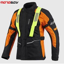 Chaqueta de moto impermeable online-Envío gratis 1 unids Motorcycle Racing Protector Motocross Armor Protection impermeable chaqueta de la motocicleta con 5 unids almohadillas