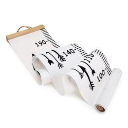 2019 figlio adesivo carta Crociera in legno appeso bambino crescita grafico altezza misura righello wall sticker per bambini camera dei bambini decorazione della casa q190522 figlio adesivo carta economici