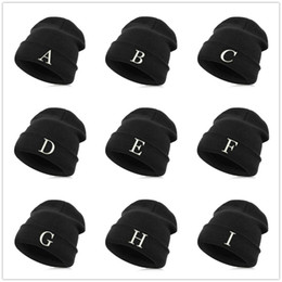 7101c51ce06 names hats caps Promo Codes - Beanie Hat Skullie Cap Winter Embroidery Punk  Men Women Personality