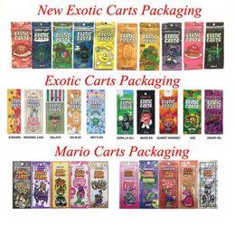 2019 vape skins sigelei 30 Sabores Carrinhos Exotic Mario Carts Embalagem Ziplock Sacos de Cartucho para Cartuchos Exóticos Cartucho Vape Cearamic Coil 1.0 ml AC1003 Tanque Vape