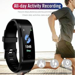 Deutschland Intelligente Armbänder Intelligentes Armband Intelligentes Armband Fitness Tracker Bunter Bildschirm Blutdruck Pulsmesser Uhr 5 Farben Versorgung