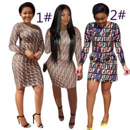 um vestido mini manga longa Desconto Mulheres one piece dress manga longa saia de verão designer acima do joelho de alta qualidade skinny dress elegante clubwear klw0874