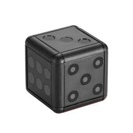 mini-nuit surveillance de vision caméscope Promotion appareil photo numérique 1080P HD Motion Vidéo Mini caméra SQ16 Dice Caméra Surveillance Caméscope Action Vision Nocturne Support Carte TF