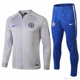 2468a461513 Best-selling new 18 19 season Chelsea tracksuit 2018 2019 home away Kante soccer  jersey Hazard training suit Giroud Chelsea grey jackets