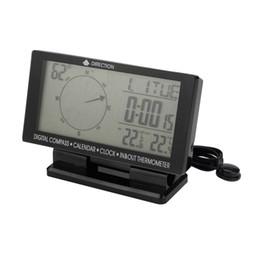 carro levou relógio tempo Desconto Carro Bússola Digital 4.6 '' Display LCD Azul LED Backlight Clock In / Out Temperatura Calendário Data Data GPS