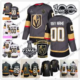 Tasse stein online-Benutzerdefinierte Vegas Golden Knights 2018 Stanley Cup Beliebige Anzahl Name Grau Weiß Fleury Pirri Eakin Reaves Tuch Stein Karlsson Schmidt Nosek Jersey