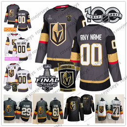 Personalizado Vegas Cavaleiros de Ouro 2018 Stanley Cup Qualquer Nome Numero Cinza Branco Fleury Pirri Eakin Reaves Tuch Pedra Karlsson Schmidt Nosek Jersey de Fornecedores de nhl jerseys boston bruins