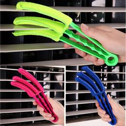 Aire acondicionado gratis online-Cepillos de limpieza multifuncionales para persianas Aire acondicionado Cepillo obturador Esquinas Brecha de lavado lavable Cepillo libre DHL WX9-1205
