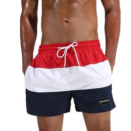 white gym athletic shorts Promo Codes - Quick Dry Summer Men Board Shorts Surf Trunks Swimwear Beach Short Briefs Man Swim Shorts Male Athletic Running Gym Shorts Man Plus Size 3XL