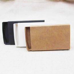 крафт-картон Скидка 10 шт. DIY пустой крафт / черный / белый картон слайд ящик подарочной / конфеты пользу упаковки дисплей коробка на заказ стоимость 10 шт. DIY пустой крафт
