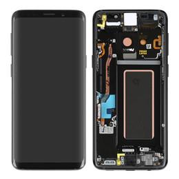 2019 оптовые телефоны для повышения Первоначально экран касания OEM цифровает агрегат дисплея LCD с рамкой для галактики Samsung S9