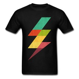 Rainbow Thunder camiseta con cuello redondo DÍA DE AÑO NUEVO Tops únicos Camisetas Manga corta 2018 Descuento 100% Algodón Sudaderas Estudiante desde fabricantes