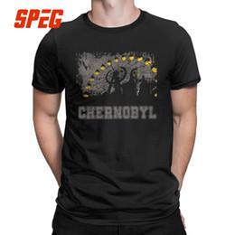 Anti-strahlung kleidung online-Männer T-Shirt Chernobyl Nuclear Radiation Freizeit aus reiner Baumwolle T-Shirts Kurzarm T-Shirt Rundhals Kleidung Classic Plus Größe