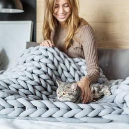 Trenza de lana online-Manta de lana Núcleo Manta de tela de algodón Hecho a mano Una trenza Manta de lana Hilado acabado Elasticidad suave 11