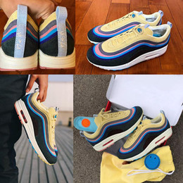 Cassic1 97 VF SW Hybrid Sean Wotherspoon Men Running Shoes Top 97s Women  Vivid Sulfur Multi Yellow Blue Hybrid Sports Sneakers 8d5a3c247