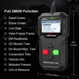 connecteur opel 16 broches Promotion KONNWEI ODB2 Scanner de diagnostic KW590 OBD2 OBD des véhicules à moteur dans le scanner automatique de lecteur de code de voiture russe Mieux AD310 ELM327