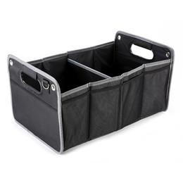 Gzhengtong Tuval Araba styling Performans amblem Büyük Kapasiteli Araç Saklama Kutusu Siyah Renk Katlanır Kutu Tüm Araba için fit cheap large fit nereden büyük uyum tedarikçiler