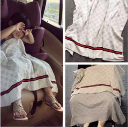 Babys decken stricken online-Baby Jungen und Mädchen Baumwolle stricken Wolle Baby Nickerchen Decken Klimaanlage Decke Sofa Cover Decken