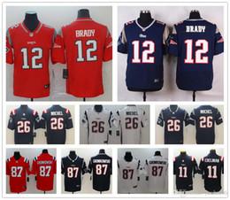 Neue Männer 12 Tom Brady England 87 Rob Gronkowski Patriots Trikots Fußball Frauen Jugend 26 Sony Michel 11 Julian Edelman Trikots von Fabrikanten