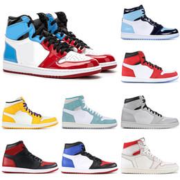 2019 zapatos para hombre de nueva york Aire 2019Jordánretro UNC Zapatillas de baloncesto 1 1s hombres mujeres Fearless NYC TO PARIS TURBO GREEN SPIDERMAN zapatillas de deporte para hombre Zapatillas de deporte zapatos para hombre de nueva york baratos