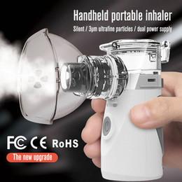Argentina Ultrasónico Mini Nebulizador de Malla Dispositivos de Vapor inhalador portátil Nebulizador Cuidado de la Salud Niños Adultos Atomizador USB Equipo Médico Suministro