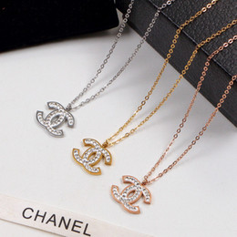 2019 conjuntos de colares modernos Pingentes de ouro para mulheres AuthenticChanel 14K 585 Ouro Amarelo redonda pequena Círculo Espumante diamante colar de pingente Fine Jewelry