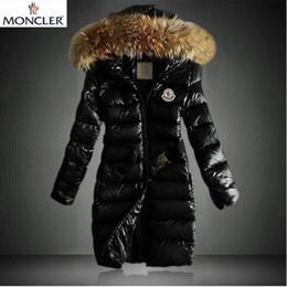 Parkas para mulheres on-line-2019 clássico Marca Mulheres Inverno quente jaqueta com colar da pele pena casaca Revestimentos das mulheres ao ar livre para baixo Mulher Moda Parkas Jacket