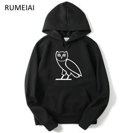 Eulenpullover online-Fashion-Owl OV Printed Herren Hoodies Frühling Herbst Herbst Sweatshirts Kapuzenvlies Lässige Harajuku Pullover