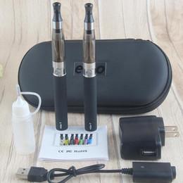 bolígrafos ego ce4 vape Rebajas Doble ego-T CE4 Starter Kit cigarrillo electrónico Kit de vapor 1100 mAh de la batería 1,6 ml 900 CE4 Clearomizer E Cig Conjunto cremallera Caso Vape Pen