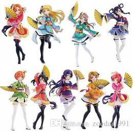 Figura giapponese azione di azione online-15-19cm Anime giapponesi Love Live action figure PVC Figure Honoka Minami Kotori Sonoda Umi Yazawa Niko Girls lovelive