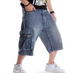 Deutschland Sommer Männer Shorts Jeans Hip Hop Denim Boardshorts Amerikanische Mode Hosen Lose Baggy Cotton Herren Hosenböden Große Größe 46 supplier american baggy jeans Versorgung