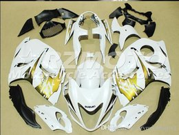 white gold hayabusa Coupons - New Injection ABS bike Fairing Kits 100% Fit For Suzuki GSXR1300 Hayabusa 08 09 10 11 12 13 14 15 GSX-R1300 2008-2015 White Gold Yellow B12