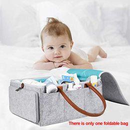Fraldas amigáveis do bebê do eco on-line-Eco Friendly Durável Dobrável de Limpeza Dobrável Viagem e Casa Bolsas Práticas Bebê Grande Capacidade de Fralda Saco De Armazenamento De Feltro