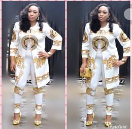 Robe africaine nouvelle mode vêtements pour femmes Imprimer Dashiki Ankara vêtements Bazin Plus Taille 4XL Femmes 2 Pièce Set Top Et Pantalon ? partir de fabricateur