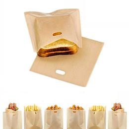 fda embalagem de alimentos Desconto sacos de torradeira antiaderente reutilizável Perfeito para sanduíches Pastelaria Pizza Slices Nuggets de frango Peixe Legumes Baking Pastelaria Ferramentas
