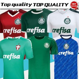 blaues rotes t-shirt Rabatt 2019 2020 Palmeiras Jersey dritter Auswärtstrikot Himmelblau Rot Fußball 2019-2020 Fußball-T-Shirts von ALLIONE CLEITON XAVIER