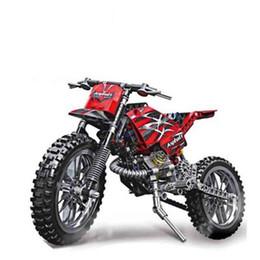 Bloques de construcción de motocicletas online-253 piezas MOTO Cross Bike Building Blocks Modelo de motocicleta Educativo DIY Ladrillos Compatible con LegoINGlys Technic dropshipping
