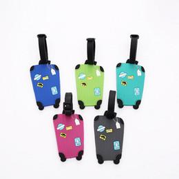 Силиконовая сумка онлайн-силиконовая бирка для багажа бирка сумки сумки дорожные аксессуары имя чемодана ID дорожные силиконовые ПВХ багажные бирки