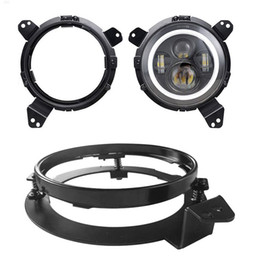 Jeep-halterung online-für Wrangle JL Extension Adapterringe Montagehalterungen Stahl Extension Adapterringe für 2018 2019 Jeep Wrangler JL 2St
