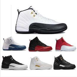 Boîtes chinoises en or en Ligne-Haute Qualité 2019 Nouveau 12s CNY Nouvel An Chinois Hommes Chaussures 12 CNY Blanc Noir Or Sport Baskets Avec Des Chaussures Boîte
