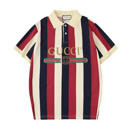 fatos de treino de leopardo preto Desconto Luxo Polo Unisex Marca T-shirt das mulheres de manga curta Camisas dos homens de tamanho grande Moda Simples Estilo Casual Stripe B104341Z
