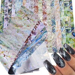 16 PCS marmo colorato lucidante pietra Rock Nail Art adesivi stagnola Trasferimento di colla splendide decorazioni per unghie Manicure TR492 da
