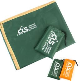 Colchonetas de camping online-Wild Explore Ground Fabric Impermeable Multifunción Conveniente Práctica Carpa Carpa Naranja Verde Simple Portátil Práctico Poncho 21 5gtD1