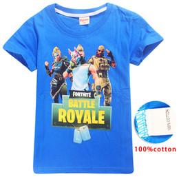 vêtements enfants de marque pas cher Promotion T-shirt à manches courtes en coton de style estival pour enfants avec imprimé de dessins animés pour garçon